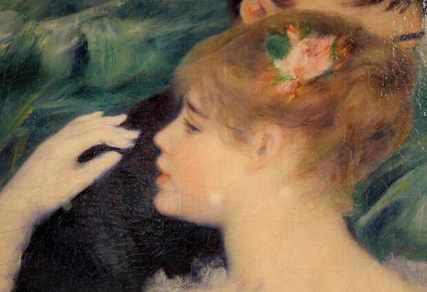 Pierre August Renoir. Il profilo di Suzanne Valadon in, Danza in città, 1883
