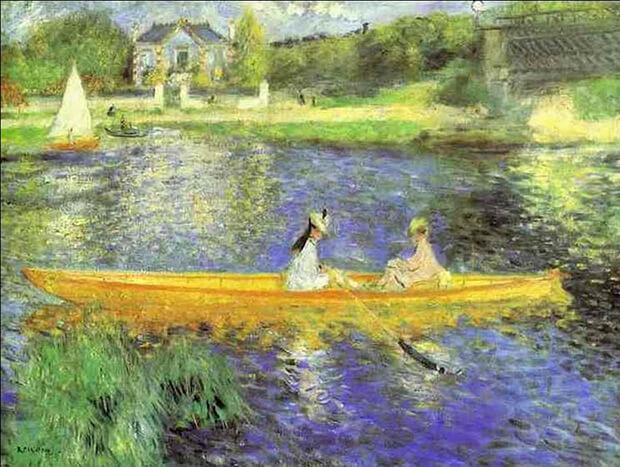 Pierre August  Renoir. Le rive della Senna a Asnières, 1879