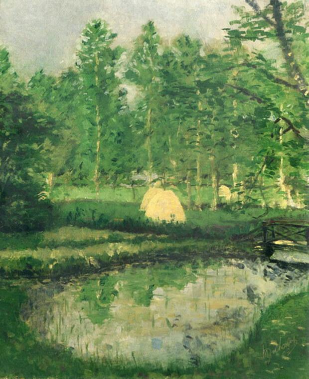 Marcel Duchamp, Paesaggio a Blainville, 1902, Olio su tela, 61x50 cm.