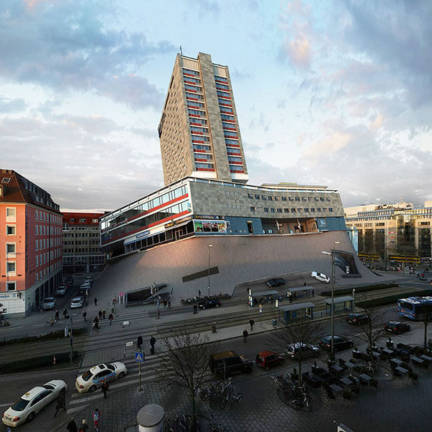 Victor Einrich - Interpretazione di un edificio a Monaco - NHDK-18-D21
