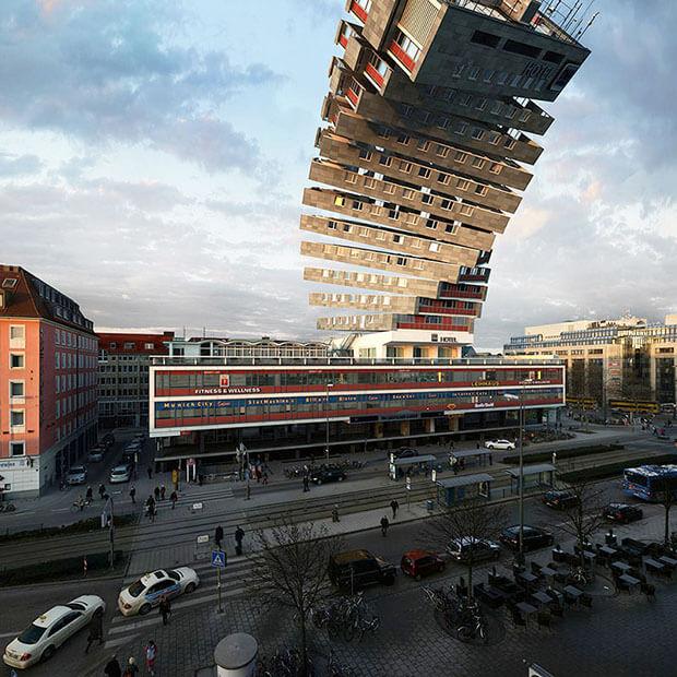 Victor Einrich - Interpretazione di un edificio a Monaco - NHDK-2-A01