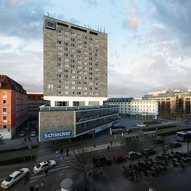 Victor Einrich - Interpretazione di un edificio a Monaco - NHDK-25-A21