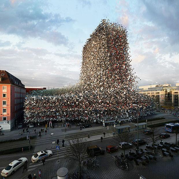 Victor Einrich - Interpretazione di un edificio a Monaco - NHDK-28-C31