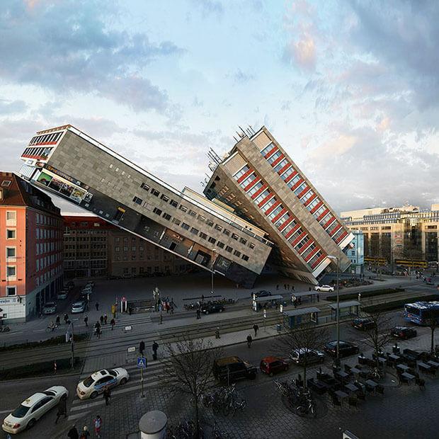 Victor Einrich - Interpretazione di un edificio a Monaco - NHDK-37-A31