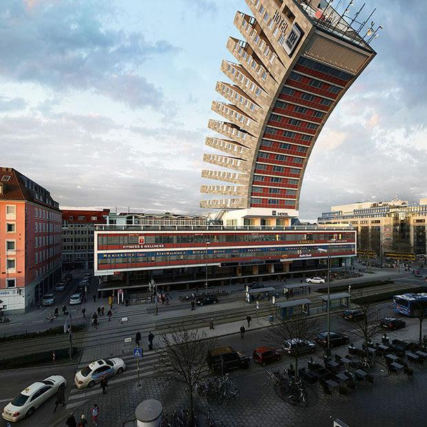 Victor Einrich - Interpretazione di un edificio a Monaco - NHDK-4-C11