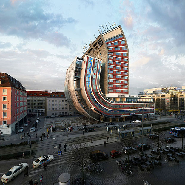 Victor Einrich - Interpretazione di un edificio a Monaco - NHDK-59-G51