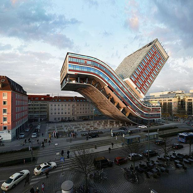 Victor Einrich - Interpretazione di un edificio a Monaco - NHDK-7-D11