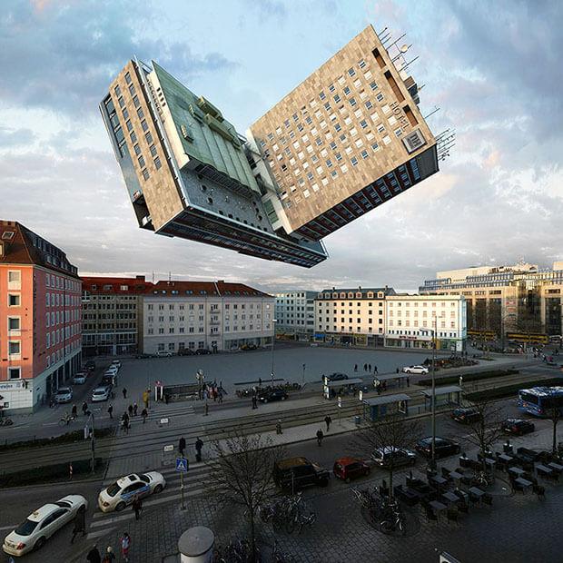 Victor Einrich - Interpretazione di un edificio a Monaco - NHDK-85-A71