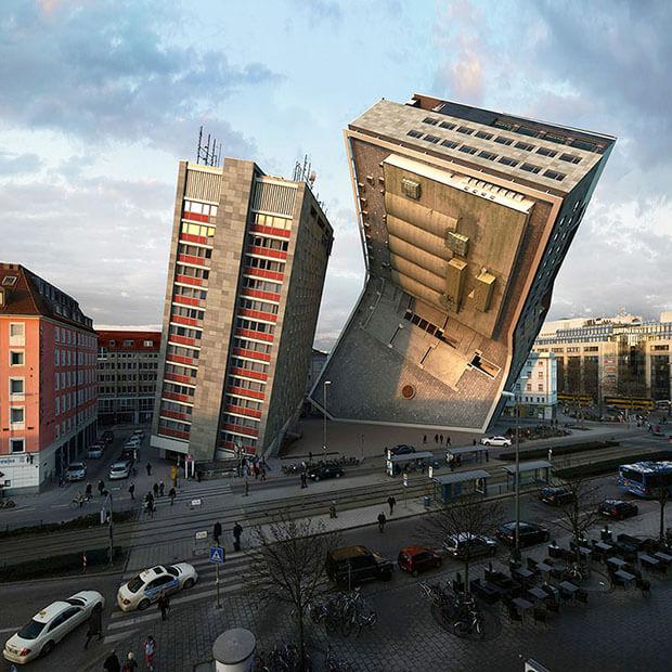 Victor Einrich - Interpretazione di un edificio a Monaco - NHDK-86-A71