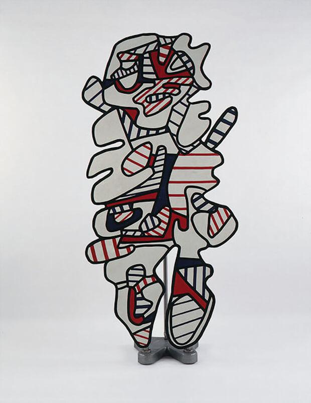 Jean Dubuffet. Il sorvegliante, 1972, pittura su resina stratificata