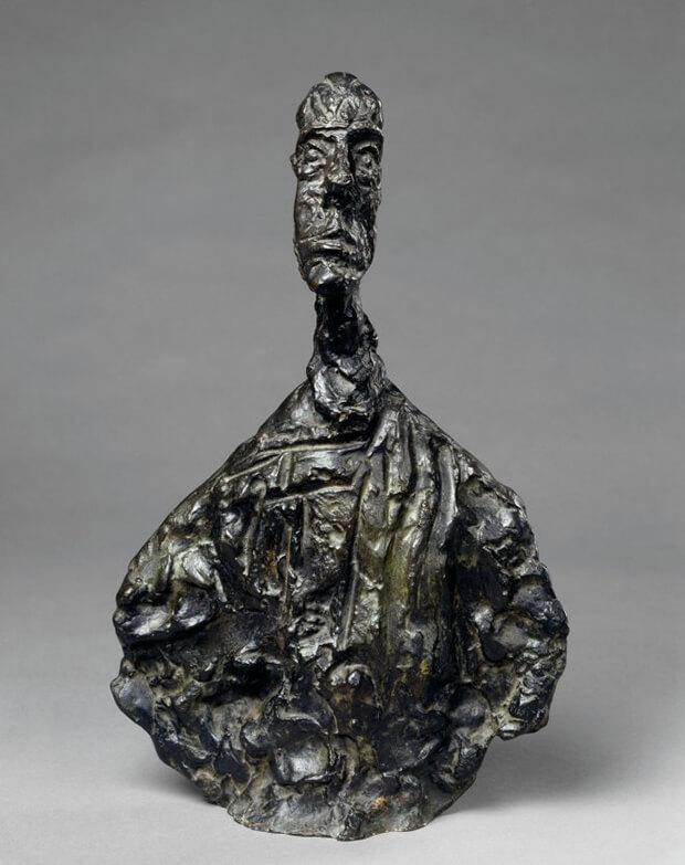 Alberto Giacometti. La Grande testa di Diego, Bronzo, 1955, Altezza 65 cm.