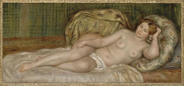 Pierre August Renoir. Grande nudo, detto anche nudo sui cuscini. 1907