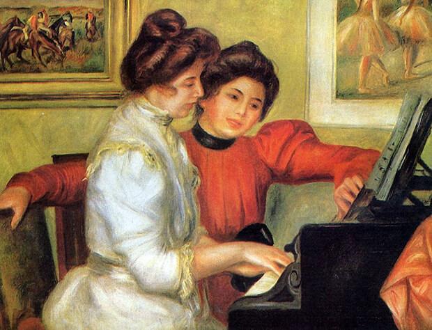 Pierre August Renoir. Yvonne e Christine Lerolle al piano, 1841