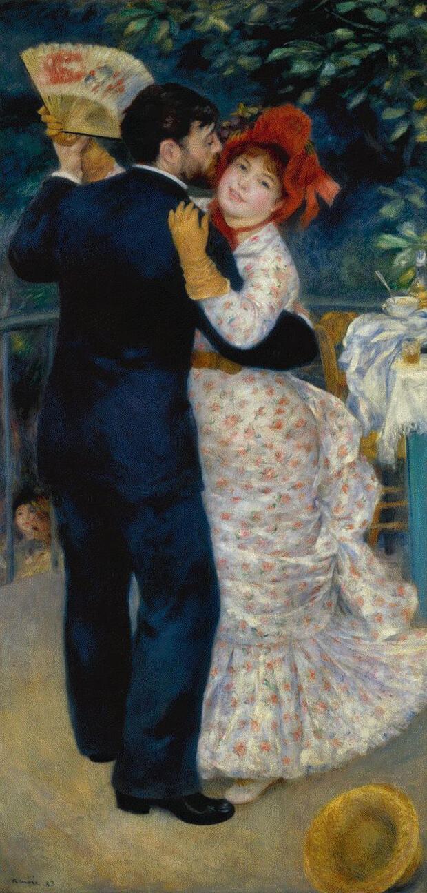 Pierre Auguste Renoir.  Danza in campagna, 1883