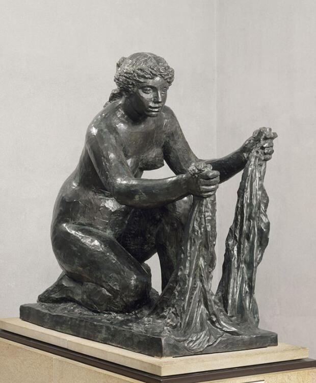 Pierre August Renoir. L'acqua, anche detto Grande lavandaia accovacciata, 1916-1917