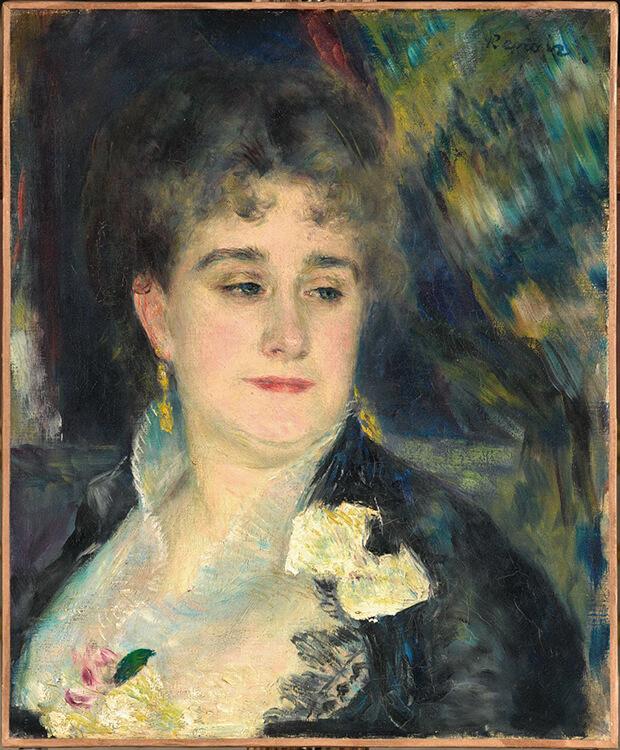 Pierre Auguste Renoir. Madame Charpentier, 1876-1877 circa