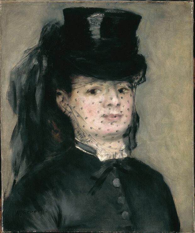 Pierre Auguste Renoir. Madame Darras, 1868 circa