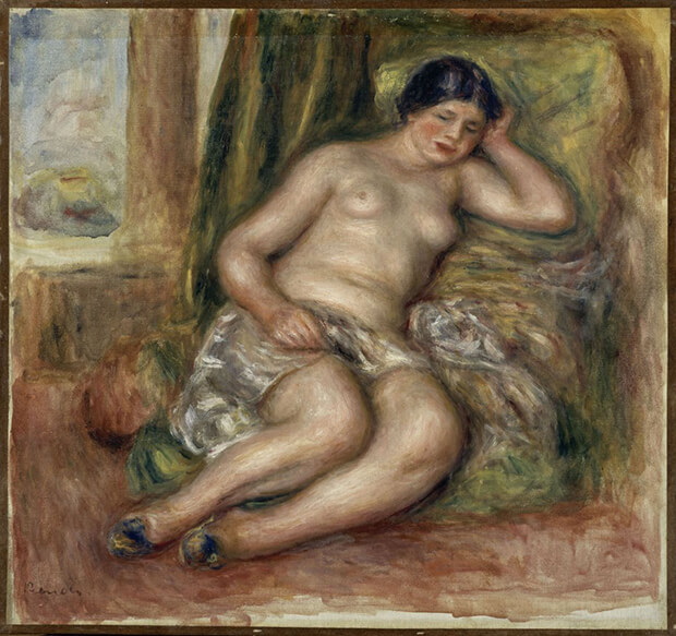 Pierre Auguste Renoir. Odalisca che dorme, anche detto Odalisca con babbucce, 1915-1917