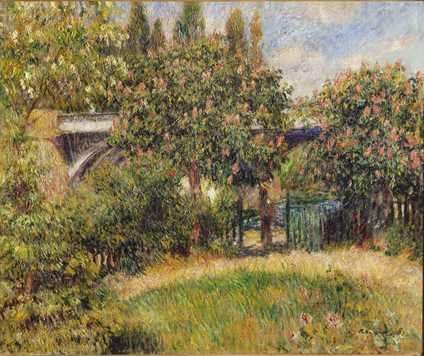 Pierre Auguste Renoir. Ponte ferroviario a Chatou, anche detto I castagni rosa, 1881
