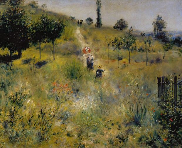 Pierre Auguste Renoir. Sentiero nell'erba alta, 1876-1877