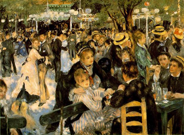 Pierre Auguste Renoir. Ballo al Moulin de la Galette, 1876