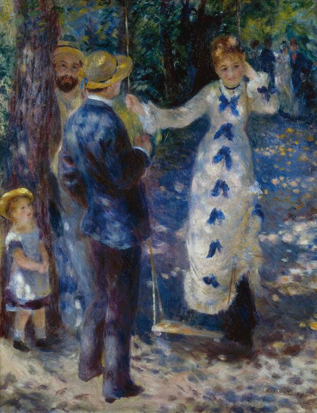 Pierre Auguste Renoir. L'altalena, 1876,