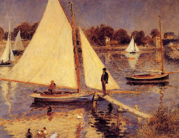 Pierre Auguste Renoir. L a Senna ad argenteuil, 1874