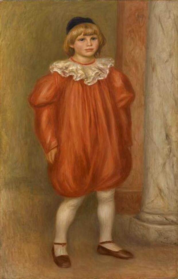 Pierre August Renoir. Il clown, Ritratto di Claude Renoir, 1909