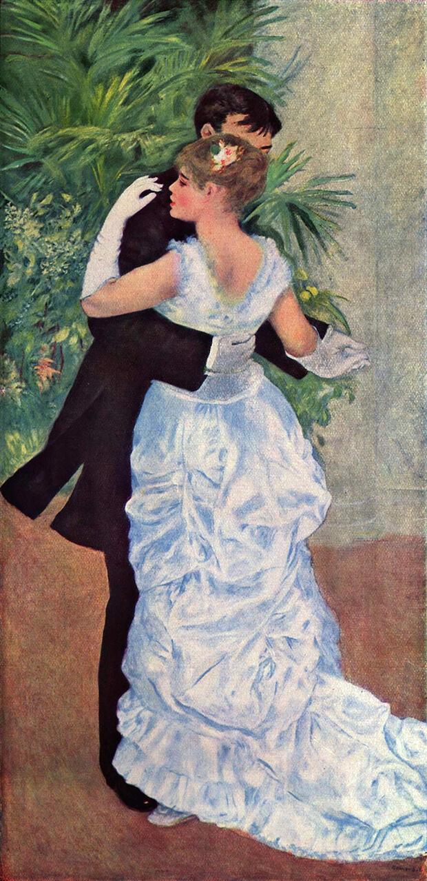 Pierre Auguste_Renoir. Danza in città, 1883