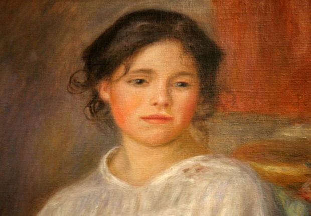 Pierre August Renoir. Fanciulla seduta, 1909