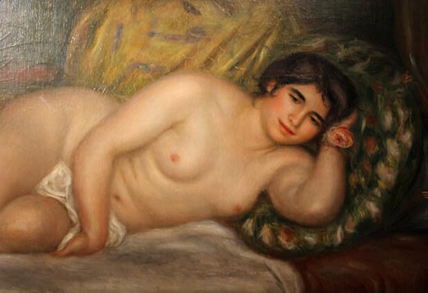 Pierre August Renoir. Donna nuda distesa, Gabrielle, 1906