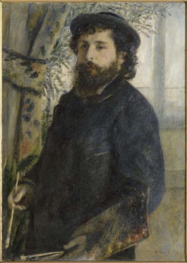 Pierre Auguste Renoir. Ritratto di Claude Monet, 1875