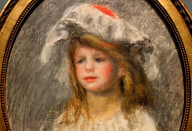 Pierre August Renoir. Ritratto di bambina con charlotte, 1900