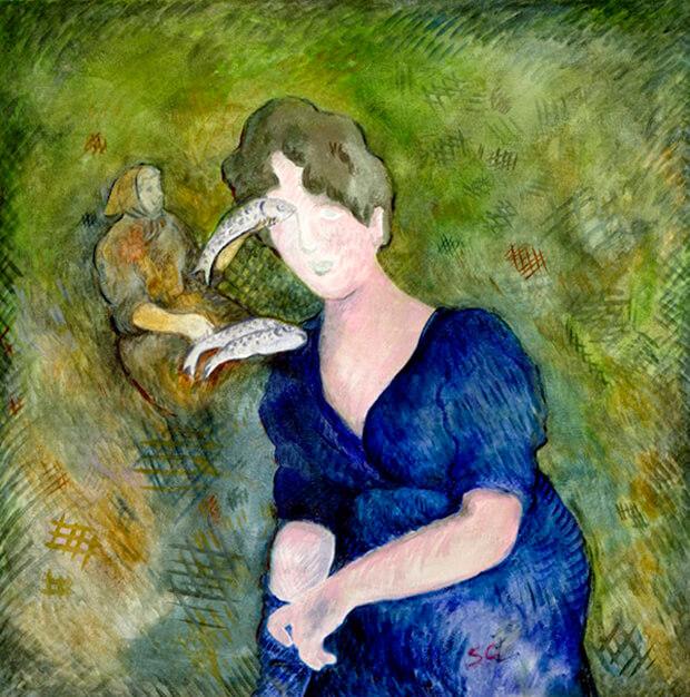 Sandro Chia. Mattinata all'opera, 1979, olio su tela, cm 102 x 101