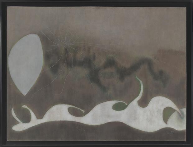 William Baziotes. La Spiaggia, 1955. Olio su tela, 91,4x121,9 cm.