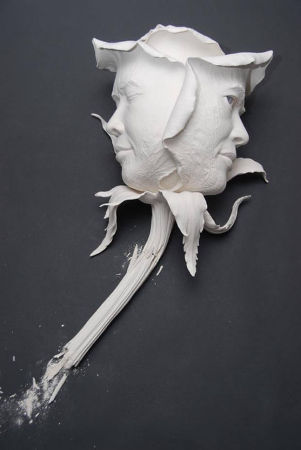 Rosa realizzata per la mostra