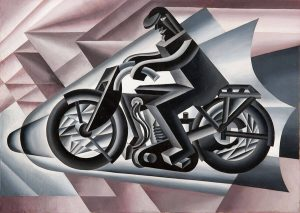 Fortunato Depero. Motociclista, solido in velocità, 1923