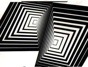 Tensione nei quadrati, Tempera 103x75, 1965