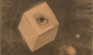 Il cubo (part.), 1880, carboncino su carta, cjpg