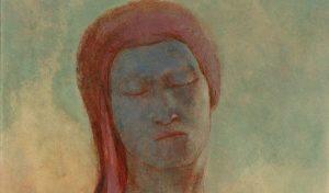Occhi chiusi (part.), 1894, olio su cartone, cm. 44,5 x 36,5