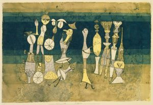 Paul Klee. Commedia, 1921,acquerello e olio su carta.jpg