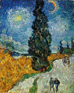 Van Gogh.Sentiero di notte in Provenza, 1890
