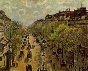Boulevard Montmartre, mattina di primavera, 1897, olio su tela, cm. 65x81