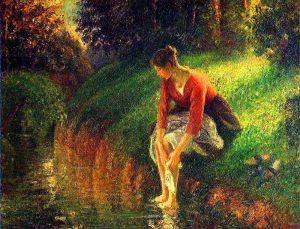 Il bagno dei piedi, 1894, olio su tela, cm. 80 x 63