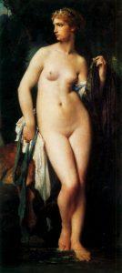 Elie Delaunay. Diana nuda, 1872. Olio su tela, cm.147 x 94