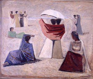 Le mogli dei marinai, 1934, olio su tela