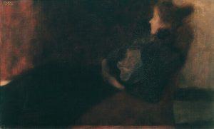 Signora davanti al caminetto, 1897-98, Belvedere, Vienna
