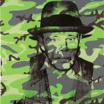 Andy Warhol - Joseph Beuys, In Memoriam, 1986, serigrafia su carta, cm. 109 76,5