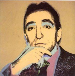 Lucio Amelio, 1975, acrilico e serigrafia su tela, cm. 105 x 105