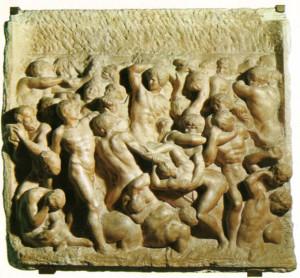 Michelangelo. La Battaglia dei centauri, casa Buonarroti-Katartei